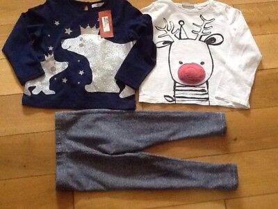 Girls 3-4 Yrs Christmas Clothes Bundle Next & M&S