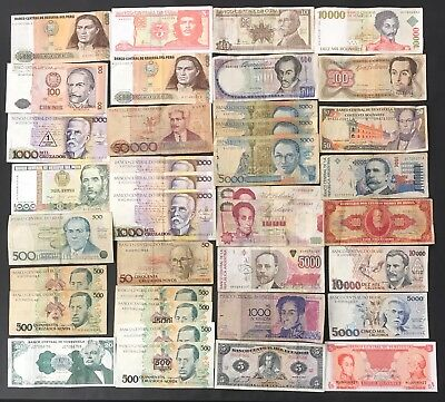 37 Mixed South American Banknote Collection - Latin America.   (1387)