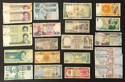 23 X Mixed Middle Eastern Banknote Collection.   (1386)