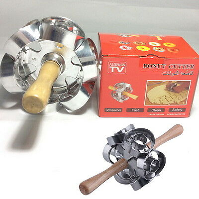 1PC New Revolving Donut Cutter Maker Mould Molding Machines Mould T2