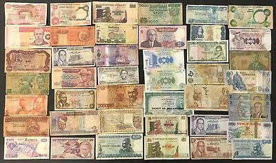 43 X Mixed African Banknote Collection - Africa - Bulk Lot. (1385)