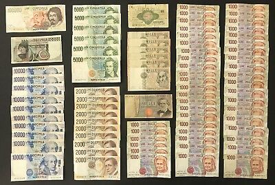 80 X Mixed Italian Banknote Collection - Europe - Bulk Lot.  (1383)