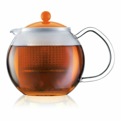 Bodum 1830948 Assam Tea Press - 1L Orange Dishwasher Safe