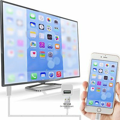 NEW Lightning to HDMI Cable iPhone iPad Cellular to TV