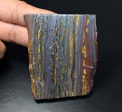 400.10 Cts. 100% Natural Multi Iron Tiger Slice For Making Cabochons