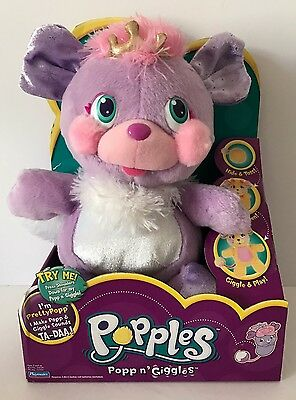 2007 Playmates Toys Popples Popp N Giggles Pretty Popp New In Box Crown