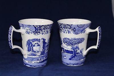 Two Spode Italian Tall Mugs in excellent condition