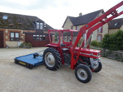 Massey Ferguson 135 Loader Tractor With Bucket Good Tyres An Flemimg Topper