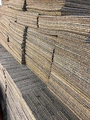 Pallet of 500 Beige, Brown and Blue Milliken Carpet Tiles - Price is per Pallet