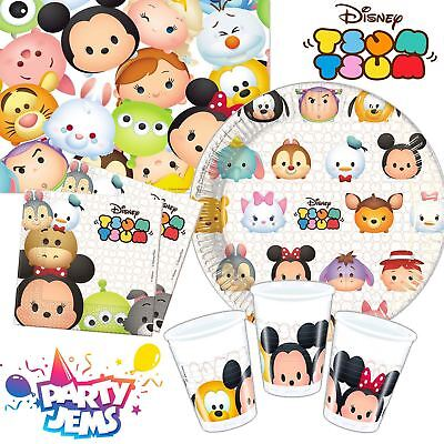 Disney Tsum Tsum Birthday Party Tableware Napkins Cups Plates Tablecover