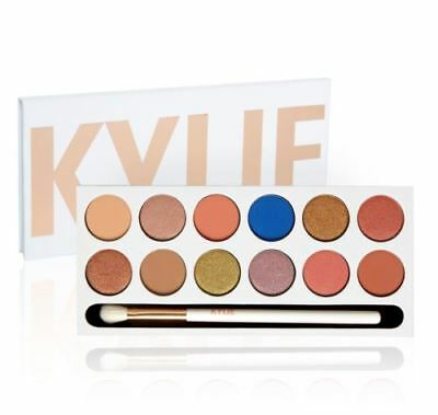 New Kylie Jenner The Royal Peach Palette  With Brush And Mirror UK Seller