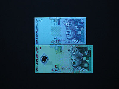 MALAYSIA BANKNOTES CLASSIC EARLY  SET OF TWO  -  1  &  5 Ringgit     Mint  UNC