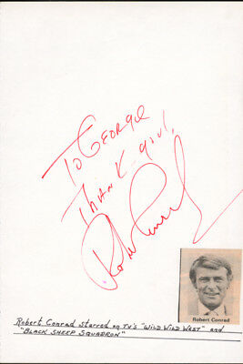 Robert Conrad - Autograph Note Signed