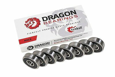 Fireball Dragon Precision Bearings for Skateboards and Inline Skates RACE 8-Pack