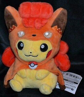 "9"" Vulpix Cape Pikachu Poke Plush Standard Official Pokemon Center Dolls Toys"