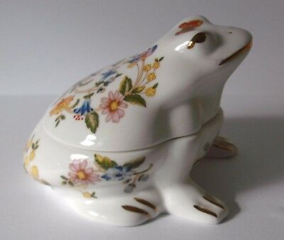 Aynsley Cottage Garden Frog Trinket Box
