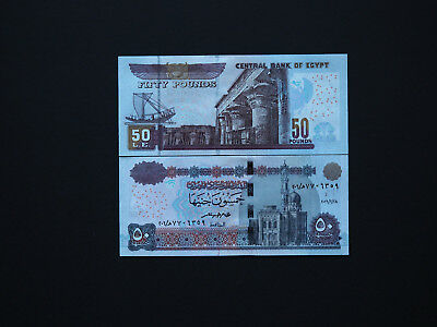 Egypt 50 Pounds New Issue  2016   Great Modern Banknotes   *  Mint Unc  *