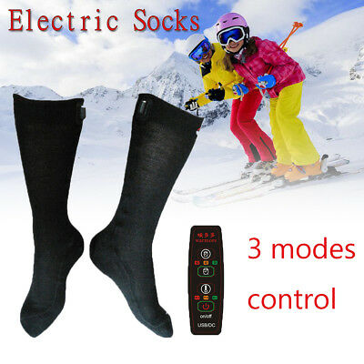 1Pair 3 Mode USB ELECTRIC Heated Thermal Socks Feet Foot Warmer Chronically Cold