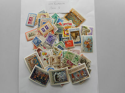100 used postage stamps ROUMANIA PK3 NO DOUBLES