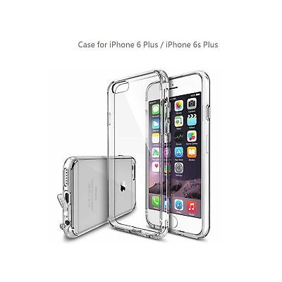 Crystal clear case for iPhone 6/6s plus with dustproof plug lanyard hole desi...