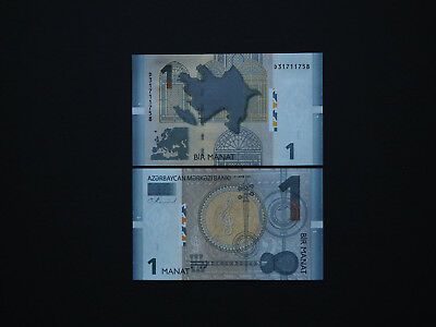 AZERBAIJAN BANKNOTES ONE MANAT  p31  2009   -  Top Quality Issue in   Mint  UNC