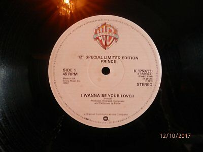 """PRINCE I WANNA BE YOUR LOVER 12"""" 45 rpm"""