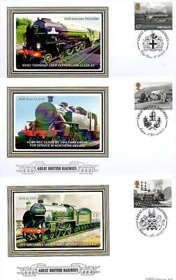 ALL 6 BENHAM BS1014-19 GREAT BRITISH RAILWAYS FDC'S 19-8-10 each with SHS F16