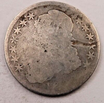 1800'S Capped Bust Half Dollar // Dateless *lettered edge* // 90% Silver (H720)