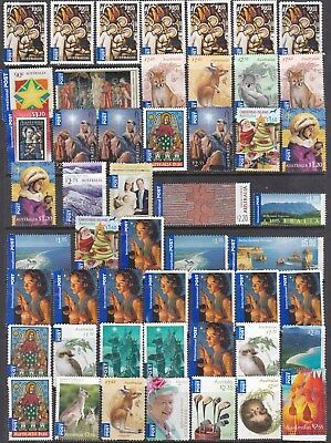 Australia Int.  Postage Stamps No Gum, More Than 100 Dollars Face Value
