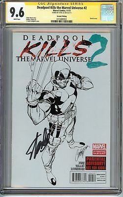 Deadpool Kills the Marvel Universe #2 CGC 9.6 NM+ SIGNED STAN LEE Variant Comics