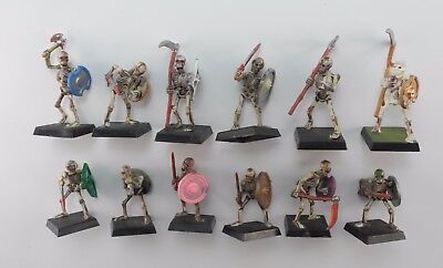 12 SKELETONS Plastic Undead Vampire Counts Army Painted Warhammer 1991 71