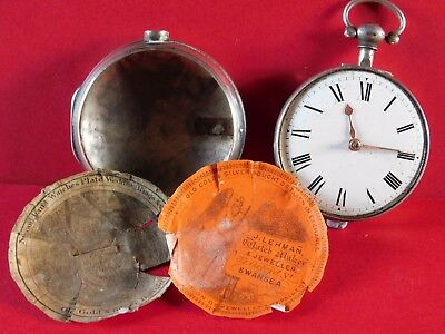 ANTIQUE SOLID SILVER PAIR CASE VERGE FUSEE POCKET WATCH THOs HUME of LONDON