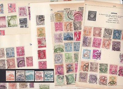 Stamps Japan carefully removed from old albums see all scans