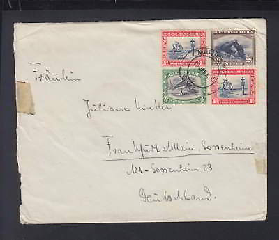 South West Africa Mail Cover Mariental circ. 1936 to Frankfurt Germany