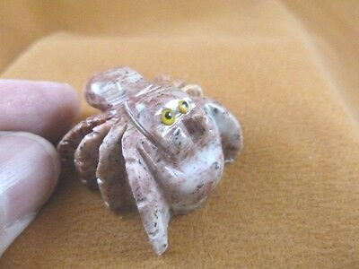 (Y-SPI-11) little red white TARANTULA spider gem stone carving SOAPSTONE spiders