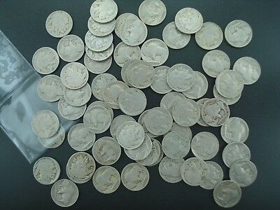Lot of (65) Buffalo Nickels 5c Coins (Mixed Dates & Mints) **NO RESERVE**