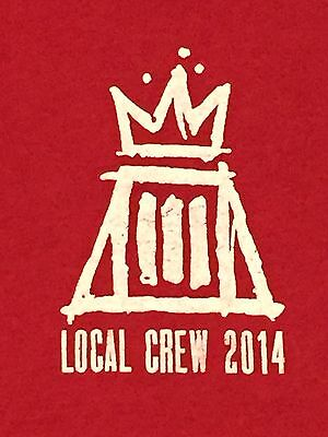 Fall Out Boy Local Crew 2014 Concert Tour Shirt XL Red