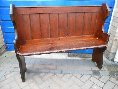 Antique Pine ? Church Pew or Settle Bench Seat - COLLECT or POSS LOCAL DELIVERY