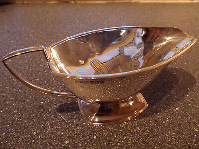 Solid Silver Sauce Boat Pinder Brothers Sheffield 1940 Art Deco 202Grms Stunning