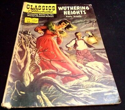 Classics Illustrated Wuthering Heights Emily Bronte #59 1949 Comic Book!!! 65B