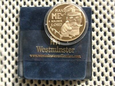 2014 Jersey 50p Gold Plated Coin - First World War - Make Me a Soldier Lord.