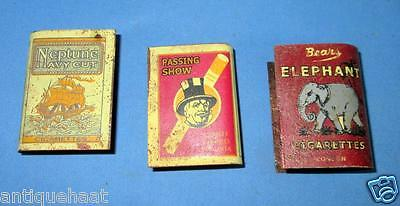 Vintage Old Different Co. Cigarettes Ad Lot Of 3 Litho Print Tin Match Box Cover