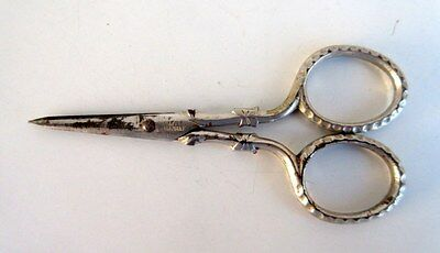 Vintage Old Rare Beautiful Small Made In Germany Iron Pocket Safety Scissors