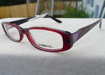 86775efea26 Victorious Eyeglass Frames Red RX-able Women s Glasses V404 Retail  58 T