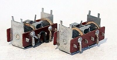 2 x PECO PL10 POINTS, TURNOUT MOTORS, TESTED WORKING FOR OO, HO GAUGE LAYOUTS