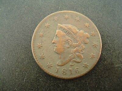 1816 Matron Head Large One Cent Penny 1c Coin **NO RESERVE**