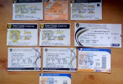 10 x Notts County v Mansfield Town Tickets. All Bar One Excellent