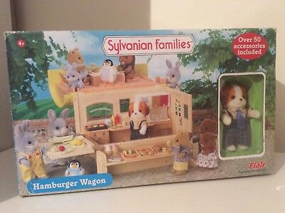 Rare Brand New hamburger Wagon sylvanian families Collector Calico Critters