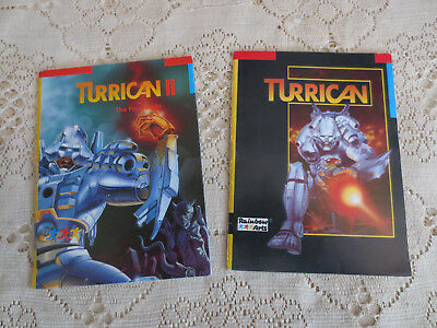 Turrican 1&2 Rainbow Arts - Amiga/Atari Original Games Manual Good condition