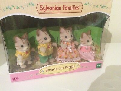 Striped Cat Family sylvanian families Collector Calico Critters
